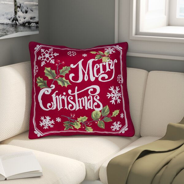 Broadbent Merry Christmas 100% Cotton Throw Pillow by Alcott Hill